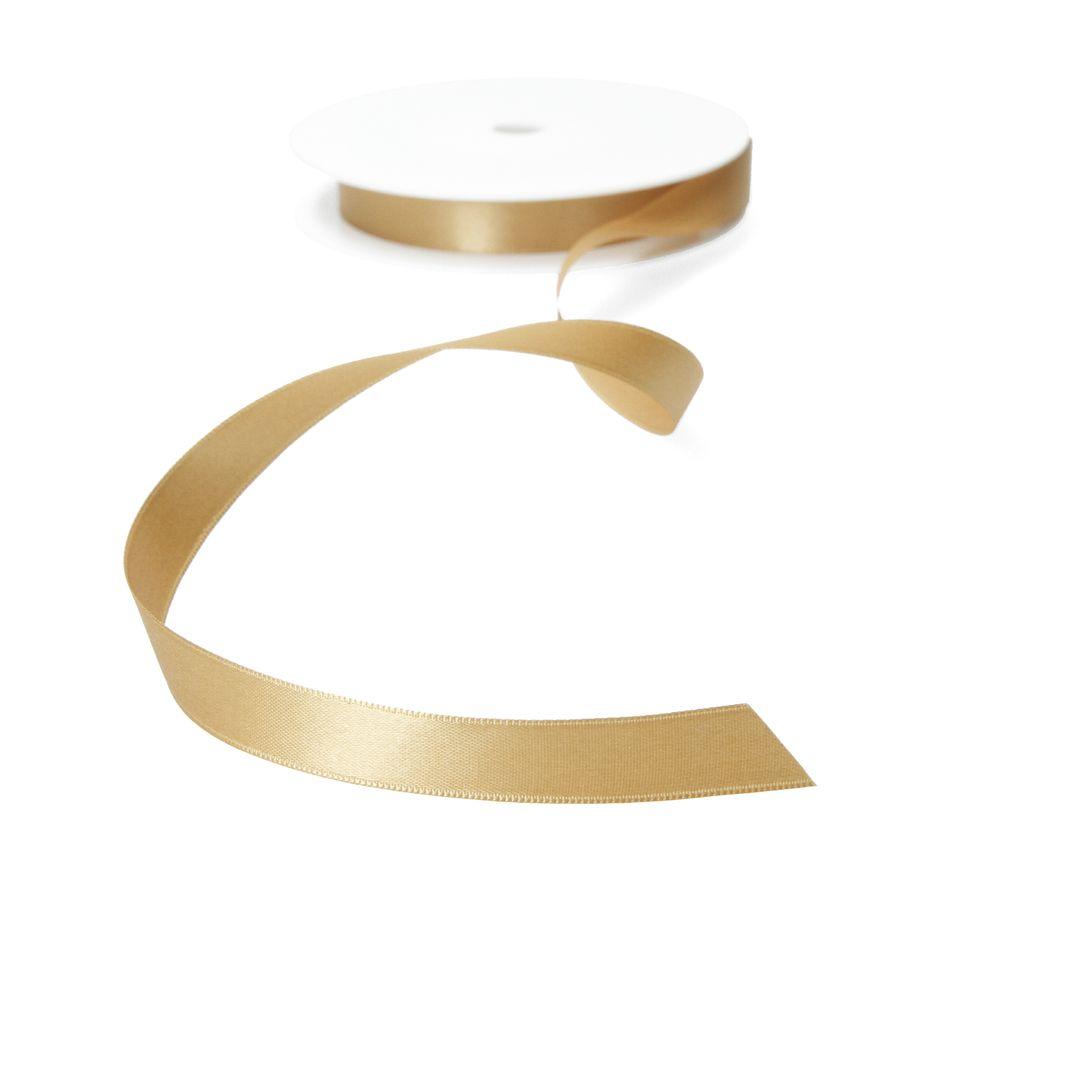 Satinband 17mm meterware - gold