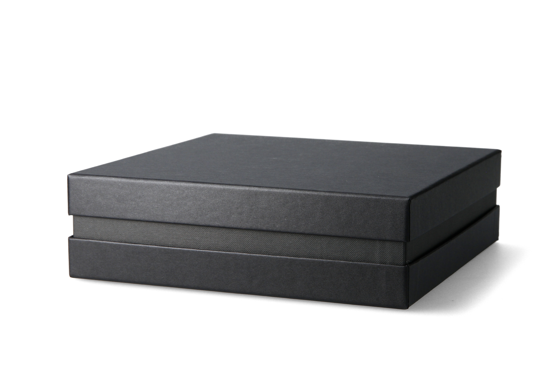 Premium+ Geschenkbox FSC® - Geschenkverpackung (Schwarz) 21x21x6 cm