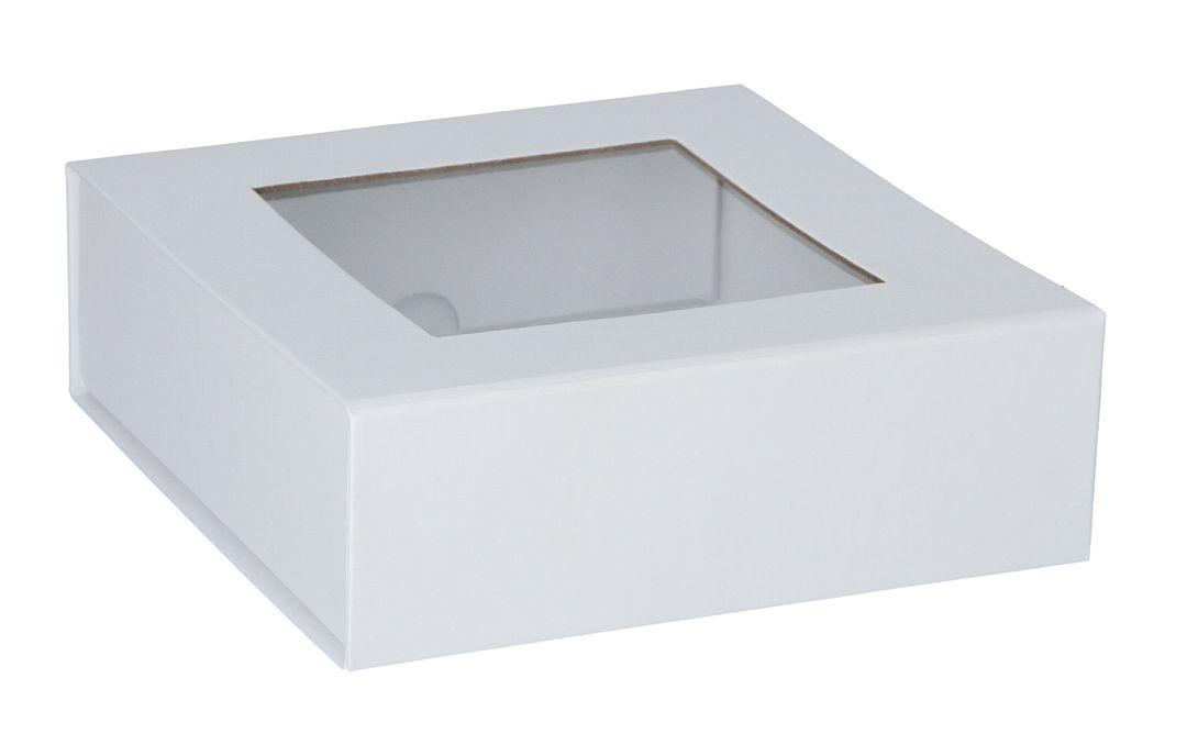Magnetfaltbox mit Sichtfenster 15x15x5cm
