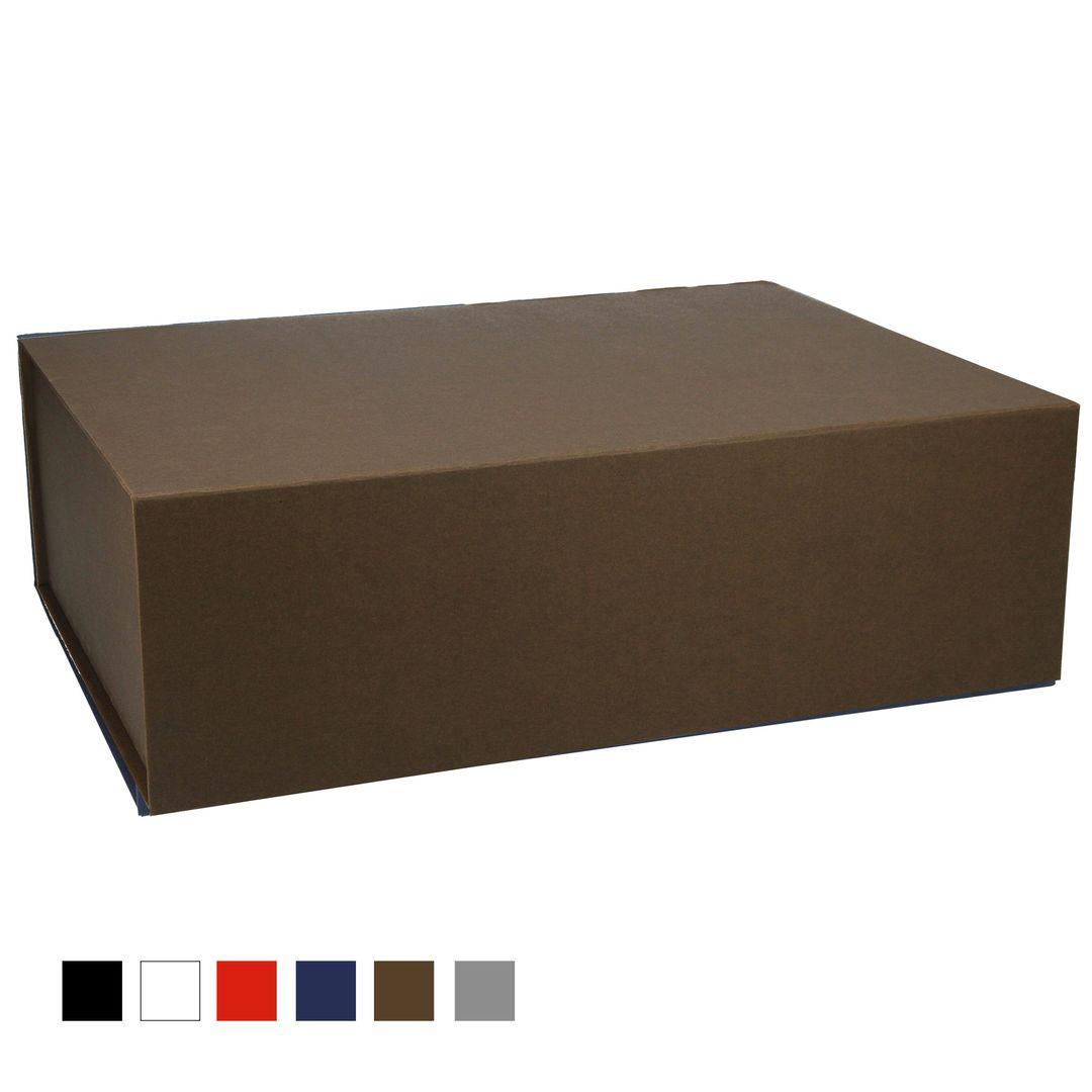 Magnetbox 38x28x12cm mit durchgefärbtem Kraftpapier