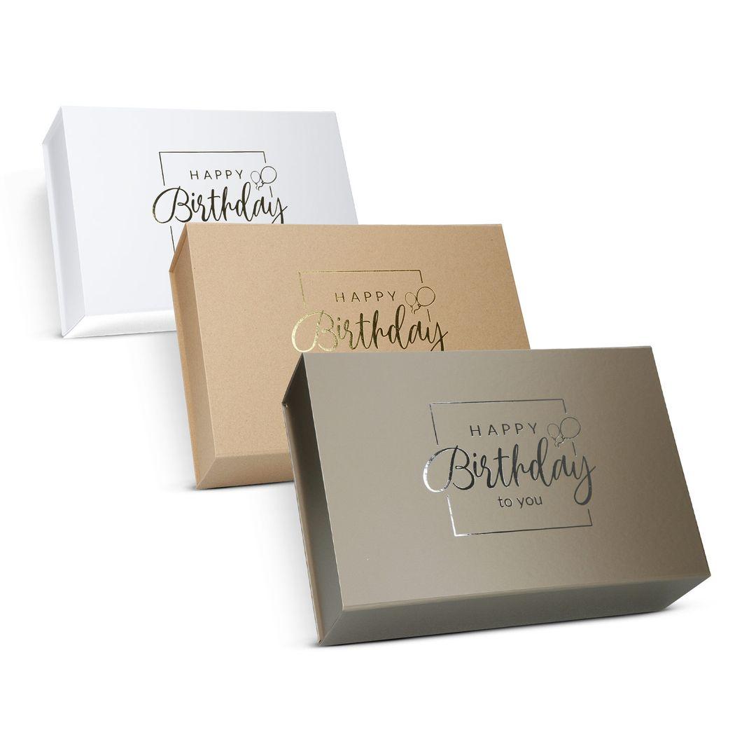 Magnetfaltbox 33x22x10cm Happy Birthday - Geburtstags Geschenkbox