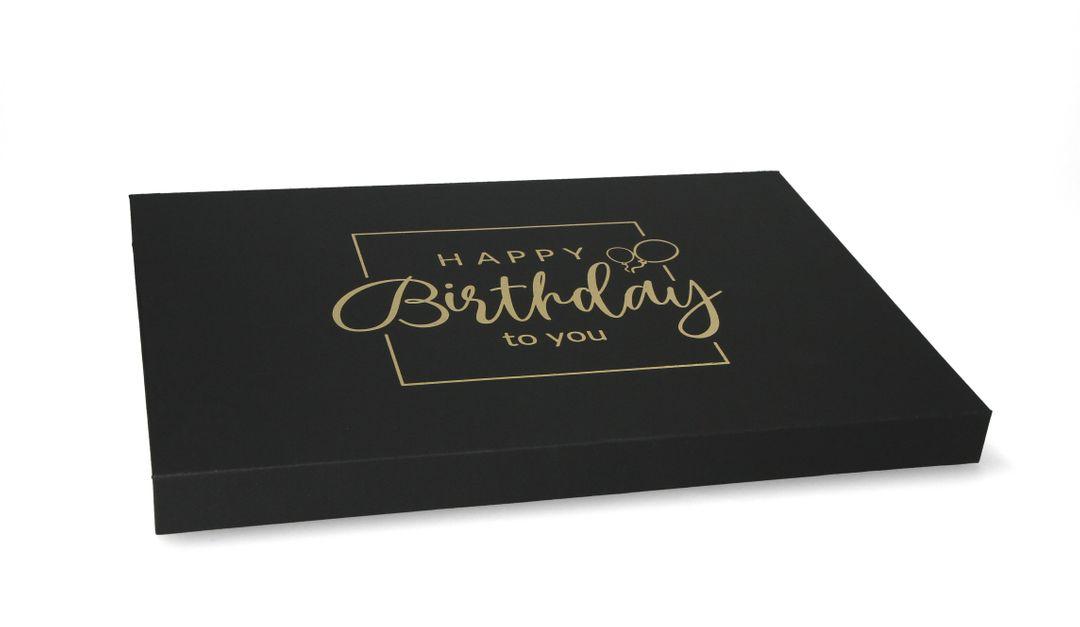 Magnetbox 30x21x2cm Happy Birthday - Geburtstags Geschenkbox