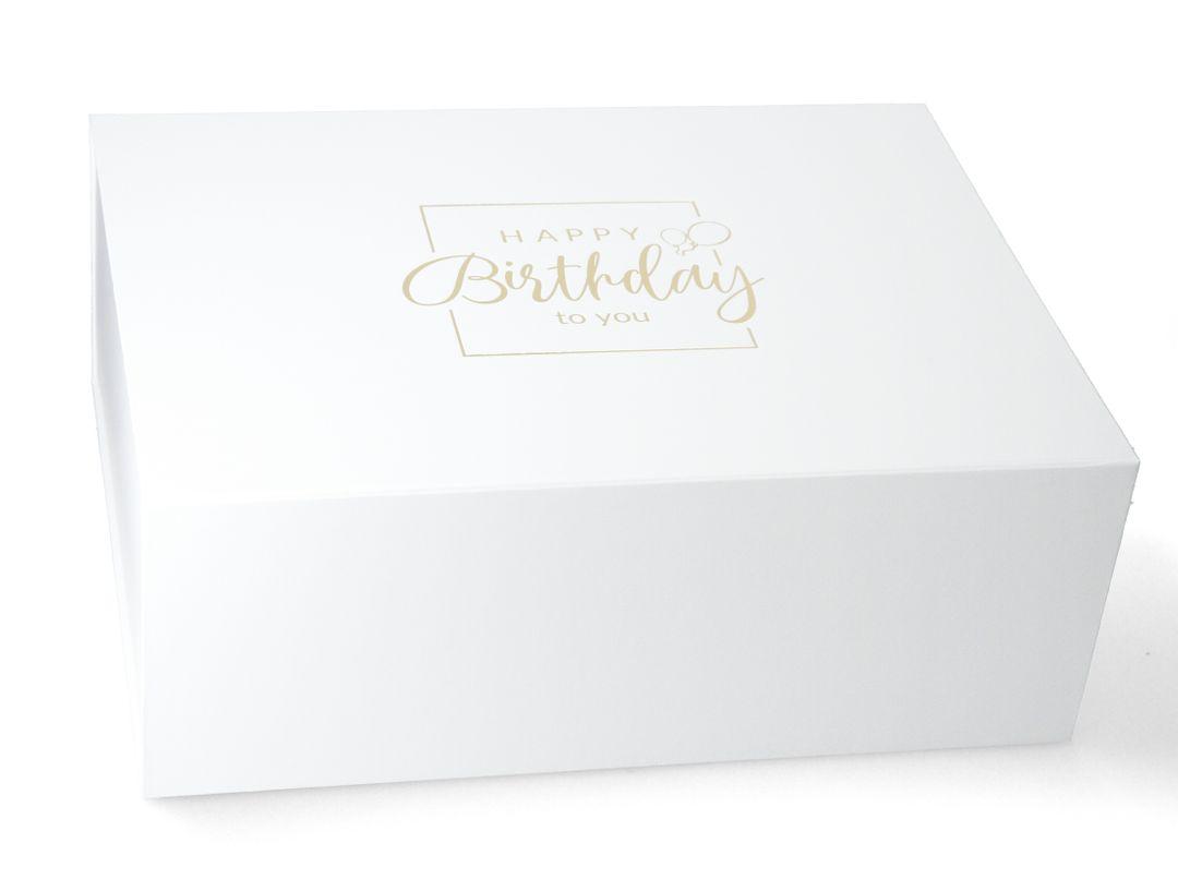 Magnetfaltbox 40x30x15cm Happy Birthday - Geburtstags Geschenkbox