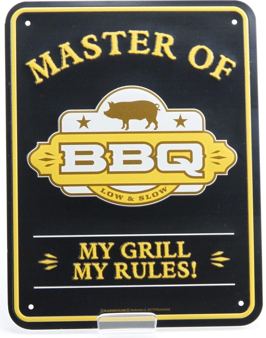 Blechschild - Master of BBQ