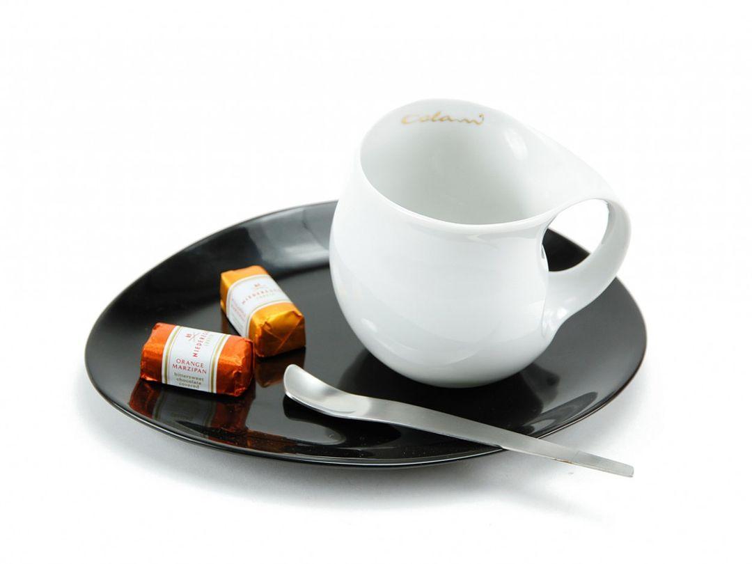 Luigi Colani Designer Kaffeetasse (Kaffeebecher + Untersetzer)