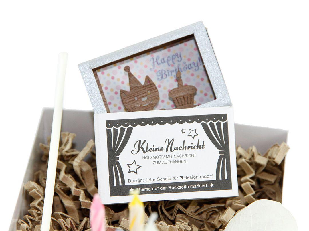 """Geschenkbox """"Mitbringsel zum Geburtstag"""" 4 Kerzen - Geburtstagsgeschenk"""