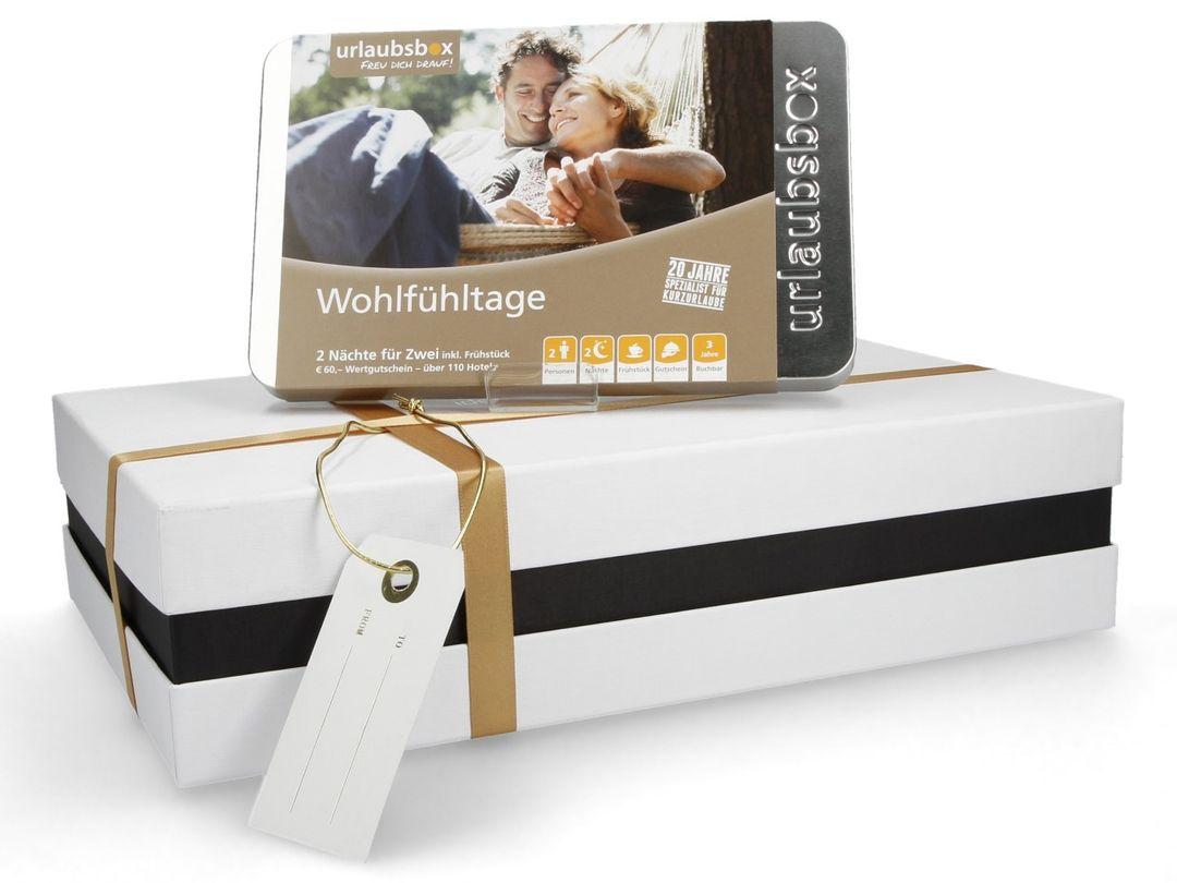 """Urlaubsbox - Kurzurlaub """"Wohlfühltage"""" für 2 Personen - Erlebnisbox"""