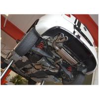 Edelstahl 70mm Sportauspuff Anlage VW Tiguan Frontantrieb – Bild 3