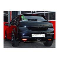 Edelstahl 76mm Sportauspuff Anlage mittig Opel Astra H GTC OPC – Bild 3