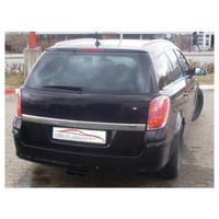Edelstahl Gr.A Sportauspuff Anlage mittig Opel Astra H Caravan – Bild 2