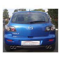 Edelstahl Gr.A Duplex Sportauspuff Anlage Mazda 3 BK  – Bild 2