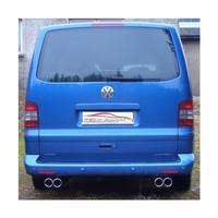 Stahl Duplex Sportauspuff VW T4 Bus lang – Bild 2