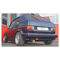 Edelstahl Sportauspuff VW Golf 1 Cabrio Bj. 84-93 – Bild 2