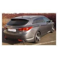 Edelstahl Duplex Sportauspuff Hyundai i40 CW 1.7l CRDI 85kw 100kW – Bild 2