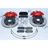 Sport Bremsen Set 330mm / Steelflex VW GOLF 4 Cabrio 1HXO 5Loch