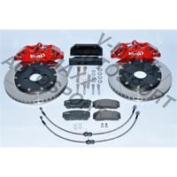 Sport Bremsen Set 330mm / Steelflex VW GOLF 3 Variant 1HXO 4Loch