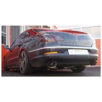 Edelstahl 2x55mm Duplex Sportauspuff Anlage VW Passat CC 3.6 FSI – Bild 2