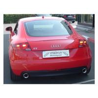Edelstahl 70mm Duplex Sportauspuff Audi TT 8J Quattro 3.2 V6 – Bild 4