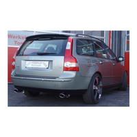 Edelstahl 76mm Duplex Sportauspuff Anlage Volvo S40 2 V50 Allrad – Bild 3