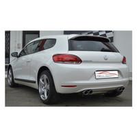 Stahl Gr.A Duplex Sportauspuff Anlage VW Scirocco 3 1.4 2.0 TSI 2.0 TDI – Bild 2
