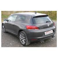 Stahl Gr.A Duplex Sportauspuff Anlage VW Scirocco 3 1.4 2.0 TSI 2.0 TDI – Bild 3