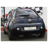 Edelstahl Gr.A Duplex Sportauspuff Anlage Opel ADAM 1.2 1.4 – Bild 4