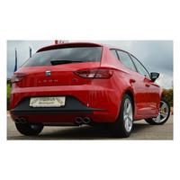 Edelstahl Gr.A Duplex Sportauspuff Anlage Seat Leon 5F 1.4 TSI 2.0 TDI – Bild 4