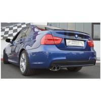 Edelstahl 70mm Sportauspuff BMW E90 E91 325d 330d Limo Touring – Bild 2