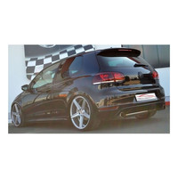 Edelstahl 76mm Duplex Sportauspuff VW Golf 6 GTI + Edition 35 2.0 TSI – Bild 4
