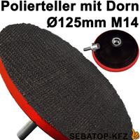 SET Polierteller, Polierscheibe mit Reinigungsknete und Lammfell 125mm – Bild 2