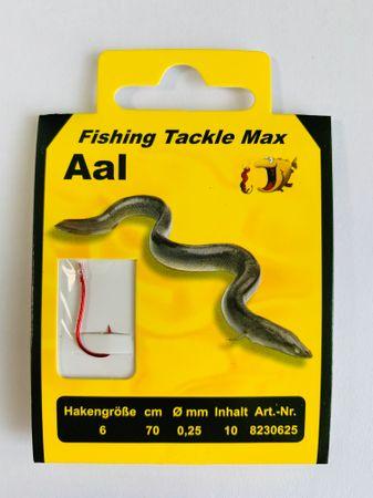 10 St. 6er Angelhaken für Aal - Größe 6