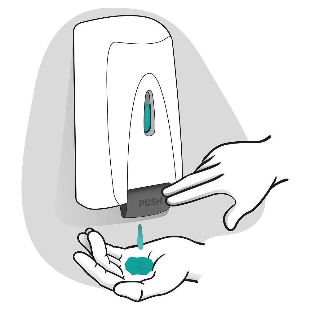 Bild eines medizinischen Seifenspenders