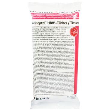100 Braun Meliseptol® HBV-Flächendesinfektionstücher