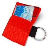 tee-uu LIFE Beatmungstuch Rot 10er Set mit Schlüsselanhänger  – Bild 2