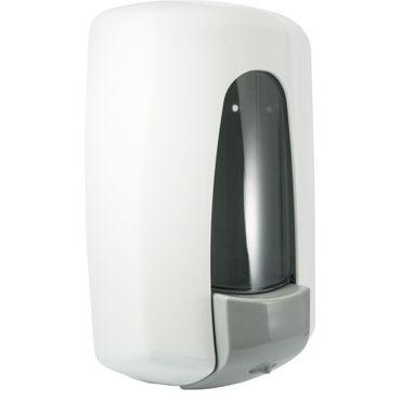 Jofel AITANA AZUR Seifenspender weiß Kunststoff 1 L mit Sichtfenster