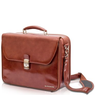 Elite Bags DOCTOR'S deluxe Arzttasche Braun Leder 41 x 31 x 14 cm