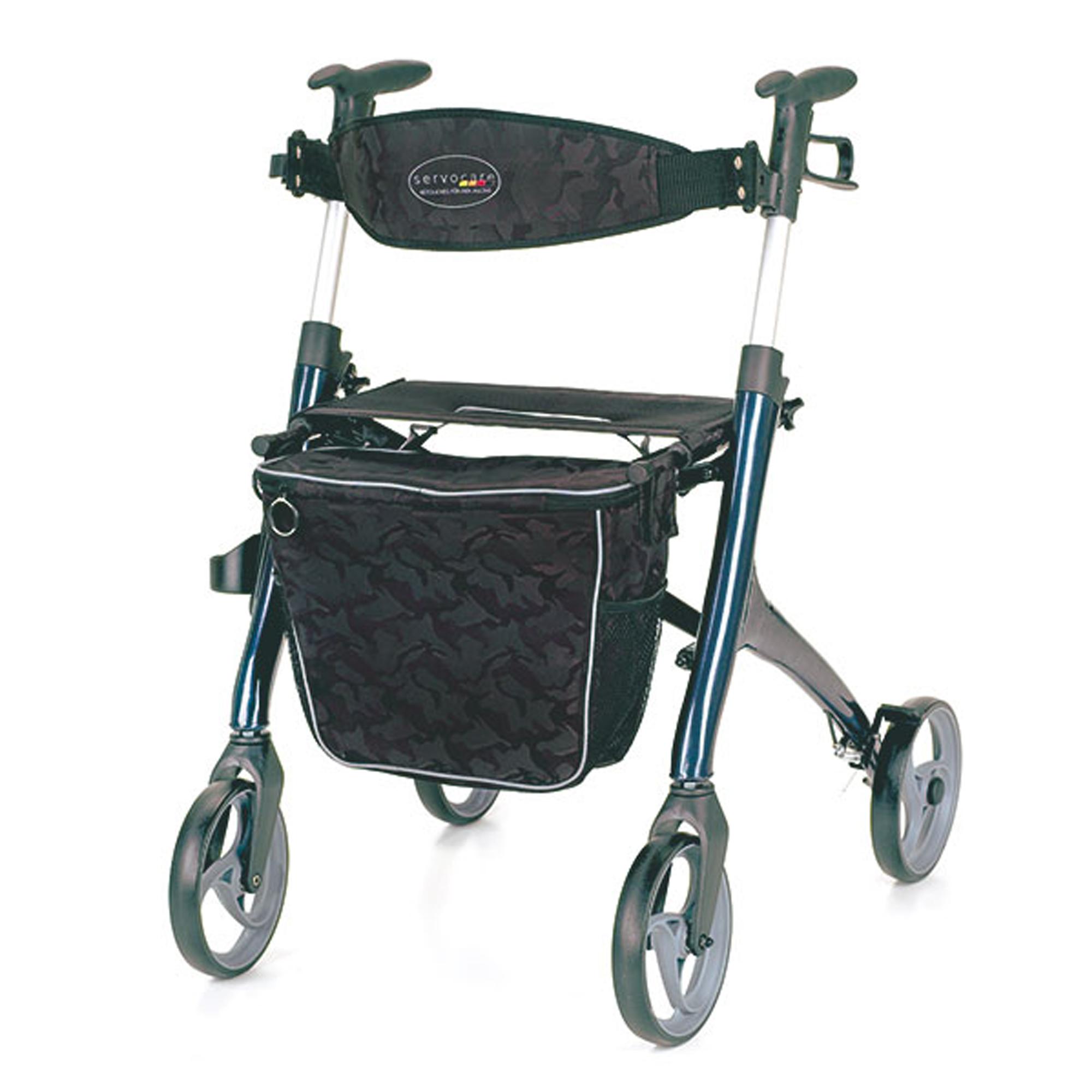 Servocare 4-Rad Rollator Premium mit Sitzfläche und Tasche Homecare ...