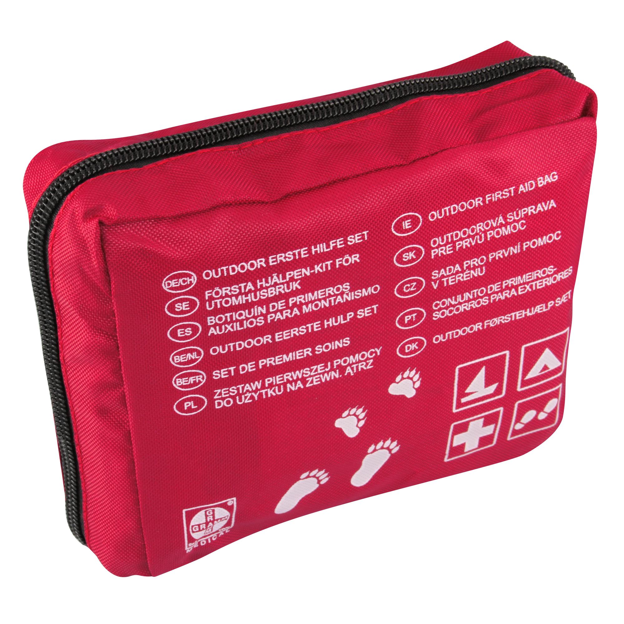 Outdoor Verbandtasche Rot Nylon 150 X 120 X 55 Mm Gefüllt Sanismart