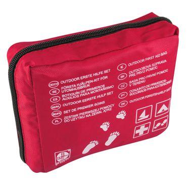 Outdoor-Verbandtasche Rot Nylon 150 x 120 x 55 mm gefüllt