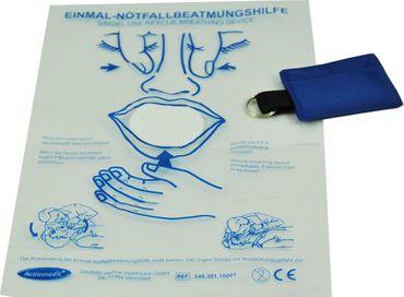 Actiomedic® MediSave Notfall-Beatmungstuch mit Schlüsselanhänger