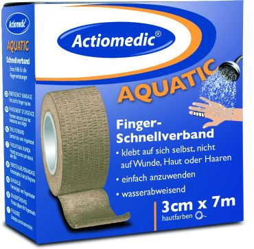 Actiomedic® AQUATIC Schnellverband 3 cm x 7 m selbsthaftend