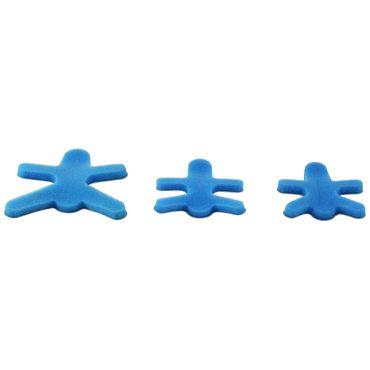 NOBARIGID®-offen Fingerschiene Froschform Blau Gr. S-L