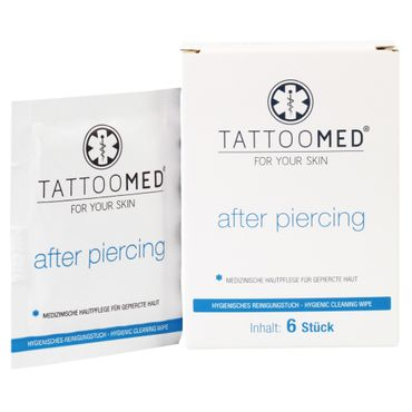 TattooMed® after piercing Hygienetücher (6 Tücher)