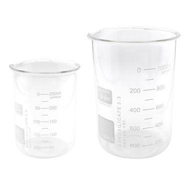 Becherglas niedrige Form aus Borosilikatglas