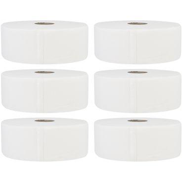 6 x Jumbo Toilettenpapier 2-lagig hochweiß Zellstoff Ø 26 cm