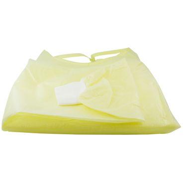 Vlies-Einwegkittel flüssigkeitsabweisend Gelb 130 x 140 cm