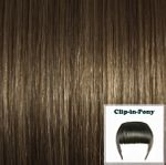 clip in fringe light ash brown#08 1