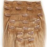 clip in extensions 110g/50cm ombré#1B/gray 3