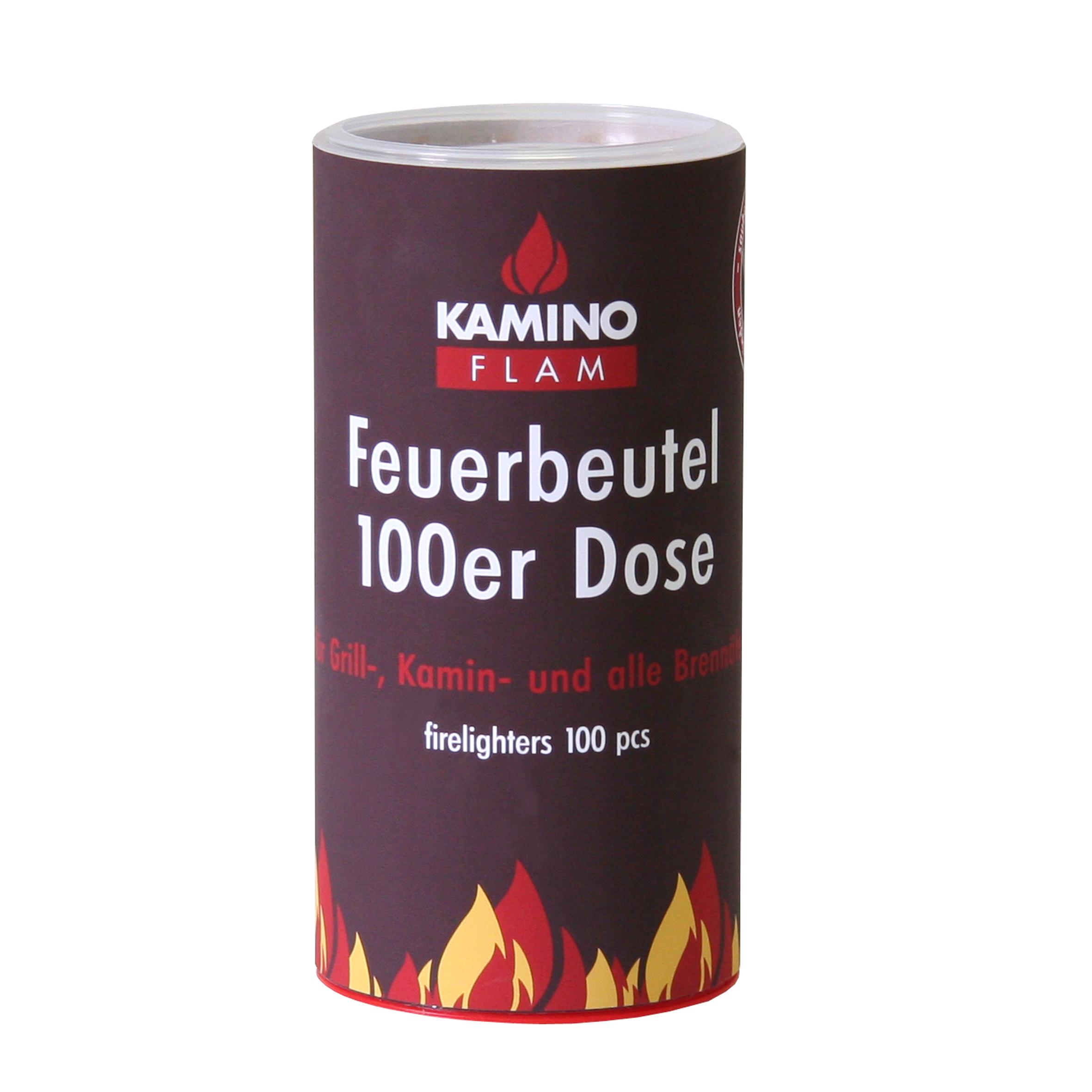 feuerbeutel 100 stück in dose winter brennstoffe und anzündhilfen