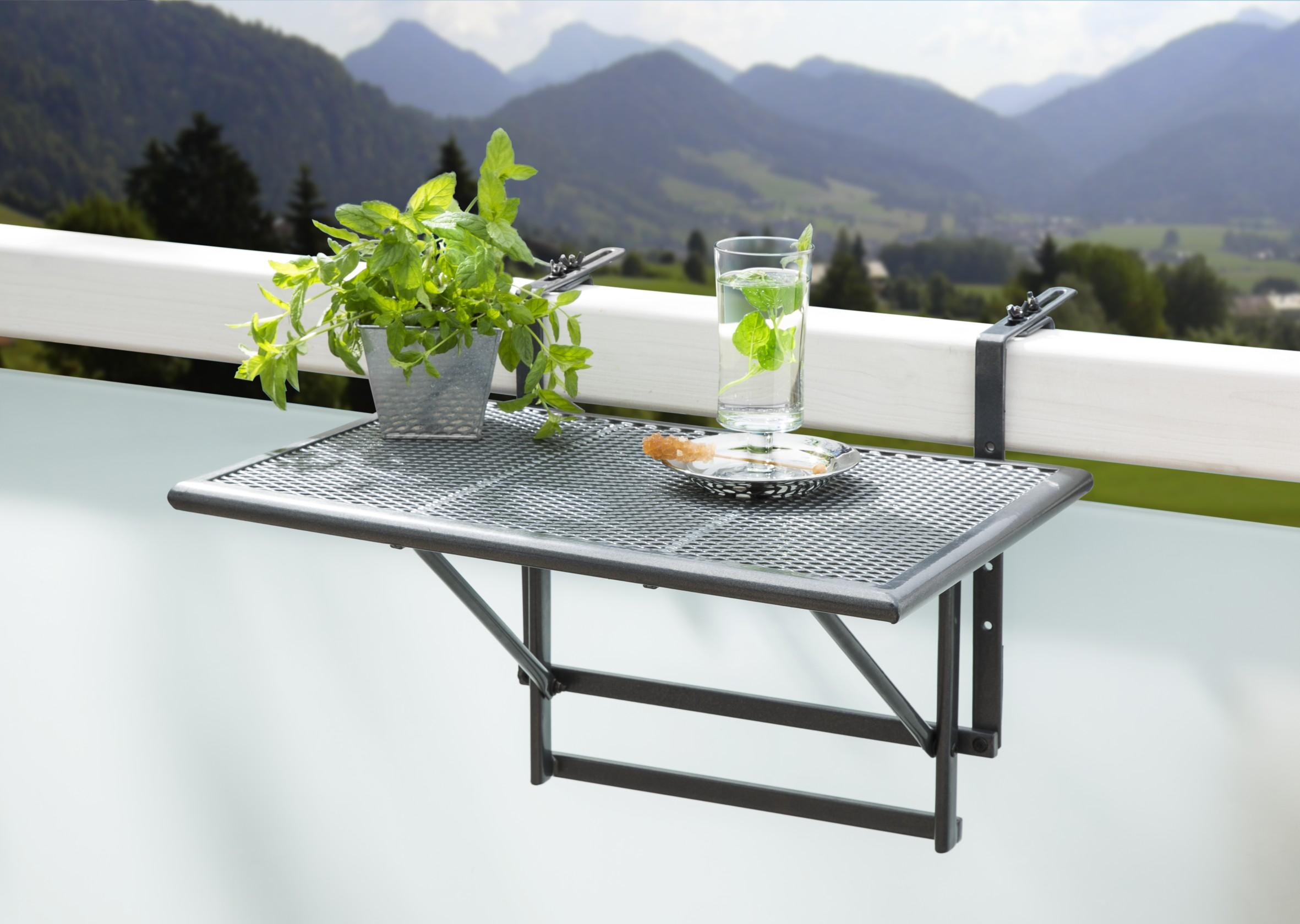 Balkonhängetisch  Balkonhängetisch 60x40x56cm